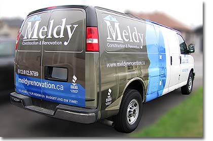 [Meldy Construction & Renovation on the road.]